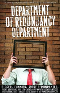 Department of Redudancy Department poster