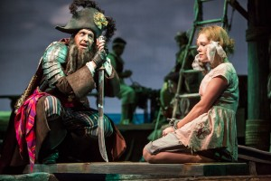 "Bradley Greenwald as Captain Johnny Johné and Megan Fischer as Enid Arabella in ""Buccaneers."" Photo: Dan Norman."