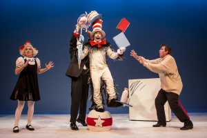 Elise Langer, Gerald Drake, Dean Holt and Douglas Neithercott in The Cat In The Hat.  Photo by Dan Norman.