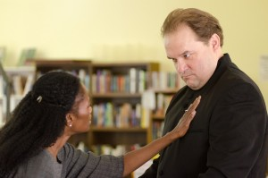 "Sonja Parks and Luverne Seifert in TTT's  ""Measure for Measure."""