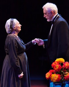 Barbara Bryne (Nini) and James A. Stephens (Henrik) in the Guthrie Theater's production of Embers, by Christopher Hampton. Photo by Heidi Bohnenkamp