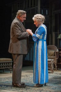 Peter Michael Goetz (James Tyrone) and Helen Carey (Mary Cavan Tyrone) in the Guthrie Theater's production of Long Day's Journey into Night, by Eugene O'Neill. Directed Joe Dowling, set design by John Lee Beatty, costume design by Ann Hould-Ward and lighting design by Christopher Akerlind. Photo: Michael Brosilow.