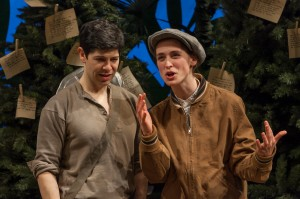 Joseph Midyett and Elizabeth Stahlmann in As You Like It.  Photo by Heidi Bohnenkamp.