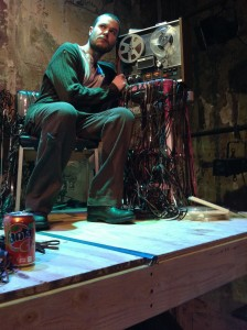 John Catron in Misterman.  Photo provided by Frank Theatre.