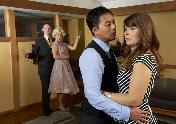 "Wade Vaughn, Katie Guentzel, Sherwin Resurreccion and Tessa Flynn in ""Maple and Vine."""