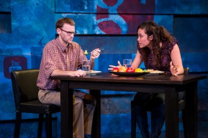 Joe Bombard and Meghan Kreidler in The Sexual Life Of Savages.  Photo by Dan Norman.