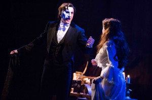 Mark Campbell and Julia Udine in The Phantom Of The Opera.  Photo by Matthew Murphy.