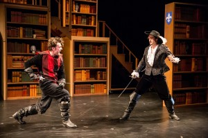 The Three Musketeers by Walking Shadow Theatre Co., performing in the Guthrie's Dowling Studio