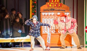 Jake Goodman and Gary Briggle in A Christmas Story, the Musical. Photo by Christian Brown, courtesy of the Ordway.