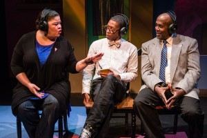 Thomasina Petrus, Namir Smallwood and James A. Williams in The Gospel Of Lovingkindness. Photo by Rich Ryan.