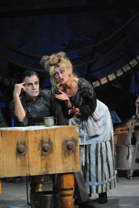 Mark Benninghofen and Sally Wingert in Sweeney Todd. Photo by George Bryan Griffiths.