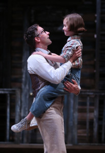 Baylen Thomas and Mary Bair in To Kill A Mockingbird. Photo by Joan Marcus.