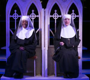 Regina Marie Williams and Norah Long in Sister Act. Photo by Heidi Bohnenkamp.