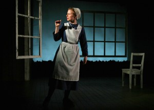 Jessica Dickey in The Amish Project. Photo by Sandra Coudert.