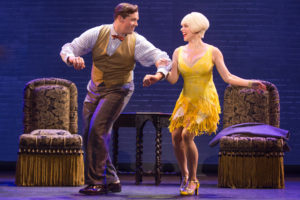Bradley Allan Zarr and Jemma Jane in Bullets Over Broadway The Musical. Photo by Matthew Murphy.