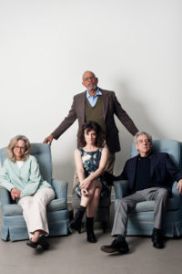 Sally Wingert, Sara Marsh, James Craven and Robert Dorfman in And So It Goes. Photo: Melissa Hesse.