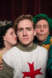 Rachel Flynn, George Dornbach and Ben Tallen in The Knight Of The Burning Pestle. Photo by Chales Gorrill.