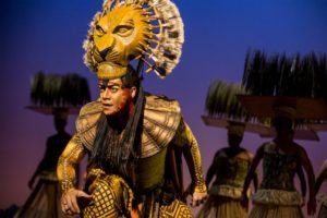 "Gerald Ramsey as ""Mufasa"" in The Lion King North American Tour. Photo by Matthew Murphy"