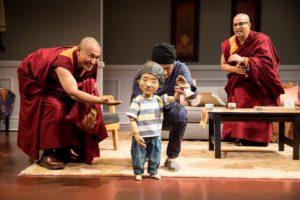"""Tsering Dorjee Bawa, Masanari Kawahara and Eric """"Pogi"""" Sumangil in The Oldest Boy. Photo by Dan Norman"""