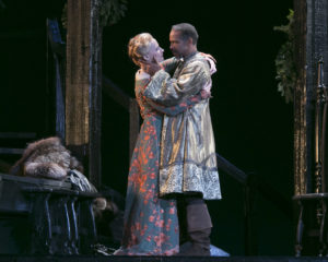 Laila Robins and Kevyn Morrow in The Lion In Winter. Photo by Heidi Bohnenkamp.